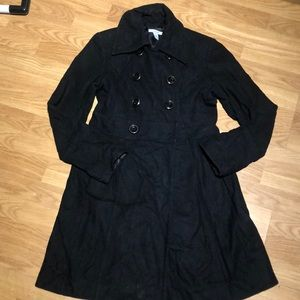 double breasted peacoat medium